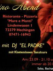"""Latino Abend im Ristaurante """"Mare e Monti"""""""